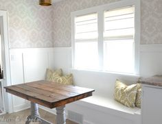 Love The Tompkins | Adding Character with Board and Batten { Breakfast Nook} | http://lovethetompkins.com