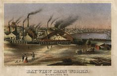 Milwaukee's Bay View Tragedy Forgotten in the Shadow of the Haymarket Milwaukee County, Milwaukee Wisconsin, Lake Michigan, West Virginia History, Old Trains, Travel Humor, Historical Society, Iron, Painting