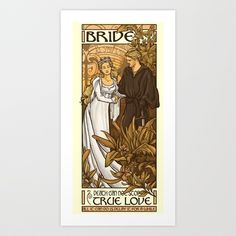 Bride Art Print by Karen Hallion Illustrations - $16.99