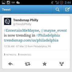 @Mayne_event trending off of #OverTimeGrind #OTG #PhillySoundsessions  #Promotion