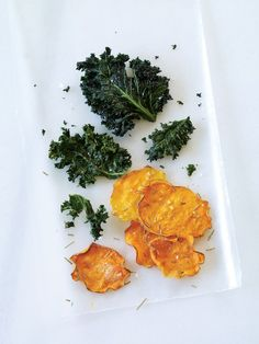 Rosemary Sweet Potato Chips: Unlike white potatoes, sweet potatoes do not have to be cooked before they're eaten. We've seasoned these wholesome chips with rosemary, but you can substitute other dried spices, such as garlic powder, onion powder, nutritional yeast, paprika, or cayenne pepper. Rosemary Sweet Potato Chips, 3.0 out of 4 based on 1 rating