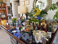 Drinks Tray, Nova, Cafe Bar, Mosaic Glass, Stained Glass, Open House, House Tours, Buffet, Table Settings