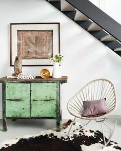 Animal Kingdom | The Style Scribe  *love the mix of modern & rustic pieces