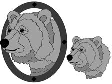 Grizzly Bear Head Intarsia Pattern