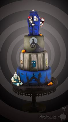 #Need Doctor Who-Nightmare Before Christmas birthday cake