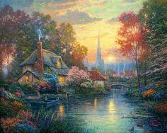 Thomas Kinkade Summer Paintings | Thomas Kinkade