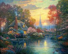 Thomas Kinkade Summer Paintings | Thomas Kinkade