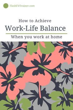 If you work at home and live at home, it's challenging to find a healthy freelance work-life balance as a freelance writer. Try these 4 tips!