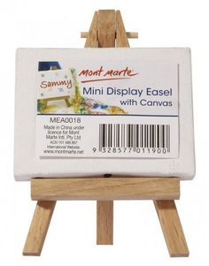Mont Marte Mini Display Easel With Canvas 6x8cm