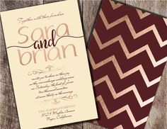Burgundy and Blush Wedding Invitation Burgundy by Joyinvitations