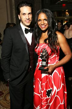 2014 Tony Awards Gala - Tony winner Audra McDonald of 'Lady Day at Emerson's Bar & Grill' and husband Will Swenson of 'Les Misérables' attend the 68th Annual Tony Awards Gala at The Plaza Hotel on June 8, 2014 in New York City.
