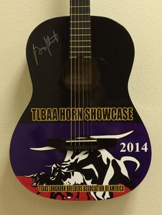 Custom wrapped promo guitars signed by George Strait, provided by Brand O' Guitar Company!