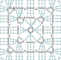 Transcendent Crochet a Solid Granny Square Ideas. Inconceivable Crochet a Solid Granny Square Ideas. Crochet Coaster Pattern, Crochet Motif Patterns, Granny Square Crochet Pattern, Crochet Diagram, Crochet Chart, Crochet Squares, Point Granny Au Crochet, Crochet Blocks, Crochet Doilies