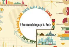 Freebie: 7 Premium Vector Infographic Sets | InkyDeals