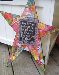 MADE TO ORDER Believe in Your Dreams Star Wall by hollychristine, $45.00