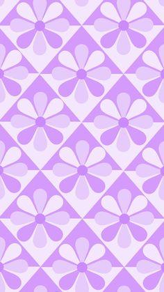 Phone wallpaper, background. 'pastel purple eight-petal flower' (1)