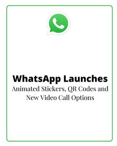 Facebook-owned messaging giant WhatsApp has released some new, interactive features, including animated stickers, new dark mode options, QR codes and more.  First off, after they were spotted in testing in the latest beta version of the app, WhatsApp has now announced animated stickers in chats. Qr Codes, Social Media Marketing, Product Launch, Coding, Animation, Messages, App, Stickers, Facebook