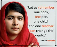 12 Powerful And Inspiring Quotes From Malala Yousafzai Malala Yousafzai Quotes, Book Quotes, Life Quotes, Daily Quotes, Motivational Quotes, Inspirational Quotes, Genius Quotes, Teacher Quotes, Women In History