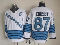 Pittsburgh Penguins #87 Sidney Crosby white CCM Throwback Jersey $32.0