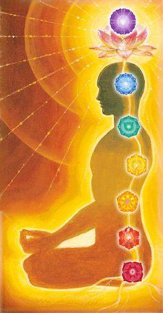 ૐ  Kundalini Shakti impulsando La Energía del  Poder por Los Chakras.  ૐ