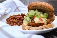 Spicy Hawaiian Chicken Burgers - Meg's Meal Planning Spicy Chicken Burgers Recipe, Ground Chicken Burgers, Chicken Patties, Hawaiian Chicken, Burger Recipes, Cooking Time, Meal Planning, Meals, Dinner