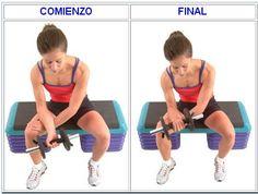 Rotación de muñecas con mancuernas / Antebrazo agarre en supinacion / GRUPO 1.