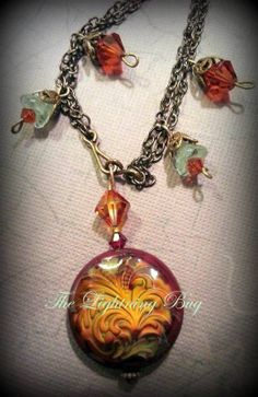 Radiant Dragon Mirage Mood Necklace  by The by LightningBugBeads, $32.00
