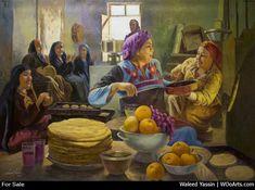 188 Realistic Figurative Paintings By Egyptian Artist Waleed Yassin Food Painting, Figure Painting, Painting Art, Arabian Art, Egypt Art, Painter Artist, Decoupage Vintage, Oriental, Harry Potter Art