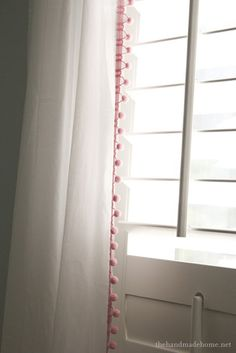 Pom pom trim on curtains