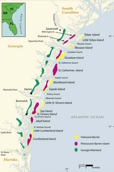 Map Of Georgia Barrier Islands.From The Northeastern U S To South America A Sailors Guide Part
