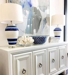 One of our favorite pieces of furniture is the console. It's functional, versatile, and fun to style! Consoles are traditionally used in entryways, but work well in many other spaces. We lov…