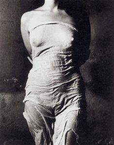 2f2aced7843a Untitled  122 (Nude torso in wet drapery) by Jan Saudek Tegning Reference