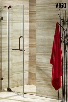 The unique pivoting door system on the VIGO Pirouette Frameless Pivot Shower Door provides added safety while making for a modern bathroom feature. Made from the highest quality 304-series stainless steel and durable tempered glass, this shower door features a sleek door handle and matching towel bar for added convenience.