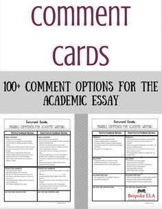 This product contains a handout with five tips for writing effective comments during peer revision and coaches students on how to go about giving thoughtful, quality feedback on academic essays.   It also contains cards with a menu of 100+ comment options to help students write higher quality comments on essays during peer revision. $3.00