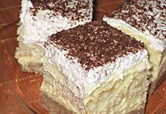 Gesztenyés-babapiskótás krémes mascapone instead of butter Sweet Desserts, No Bake Desserts, Just Desserts, Dessert Recipes, Hungarian Cake, Hungarian Recipes, Hungarian Food, My Recipes, Holiday Recipes