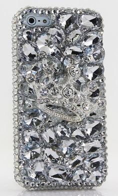 Clear Diamond Crown Design Bling case made for iPhone 5 / 5S, iPhone 6s/ 6s Plus, Samsung Galaxy (S3, S4, S5), Samsung Galaxy Note (2, 3, 4, 5), Nokia Lumia, Black Berry, HTC, MotoRola, LG and other devices. Get this Crystal bling phone case here:  http://luxaddiction.com/collections/3d-designs/products/clear-diamond-crown-design-style-011