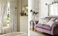 Laura Ashley fabrics + wallpapers in Amethyst