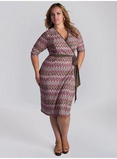 Margherita Wrap Dress in Azalea plus size