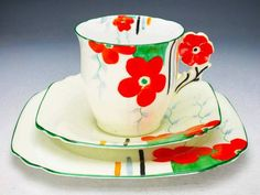 Collinwood  flower handle trio  1925