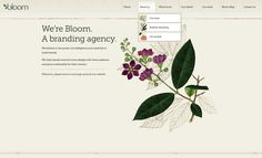 Bloom's website incorporates botanical illustration. Appropriately :)