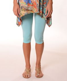 Love this Cyan Capri Leggings - Plus on #zulily! #zulilyfinds