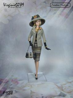 tenue outfit + accessoires pour fashion royalty barbie silkstone vintage #1538