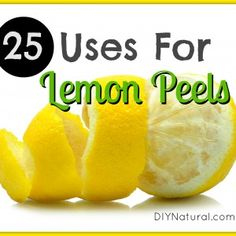 Make an all-purpose cleaner This is one of the simplest ways to use your leftover lemon peels. Add the peels of several lemons to a large j...