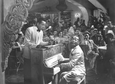 "Dooley Wilson, the singer/actor who was best known as Sam in 1942's ""Casablanca""-he played ""As Time Goes By"" again for Rick-died on this date back in 1953 at the age of 67. Photo of Wilson and Humphrey Bogart in ""Casablanca"" from the L.A. Times files."
