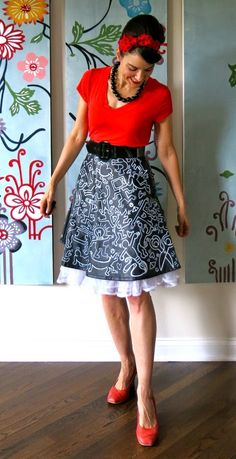 Cassie Stephens: DIY: A Keith Haring Inspired Pleather Ensemble