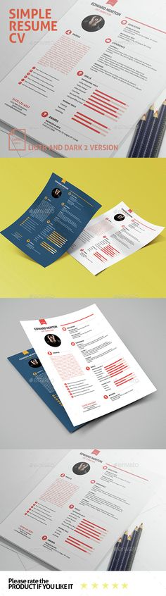 Simple Resume Templates Simple resume template, Simple resume - simple resumes templates