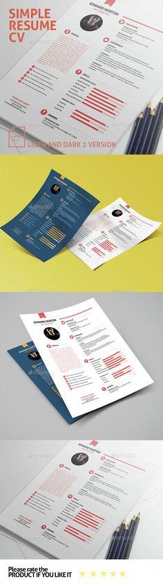 simple resume cv