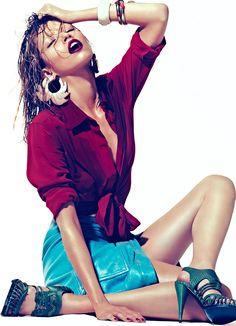 Roxane Glineur by Andoni & Arantxa for Prestige Hong Kong May 2012