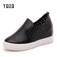 YOZO Women Shoes Fashion Wedges Platform Slip On Loafers Women Breathable Comfortable Casual Brand Shoes Women Zapatos Mujer