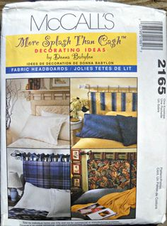 McCall's 2165, Fabric Headboards Pattern, More Splash Than Cash Decorating Ideas Pattern
